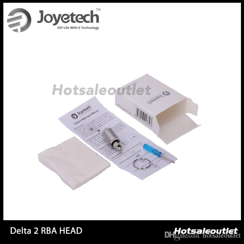 Joyetech Delta II RBA Head Kit 1.0ohm Delta 2 RBA Testa Delta 2 Atomizzatore Sostituzione Riscaldamento Testa bobina 100% Originale