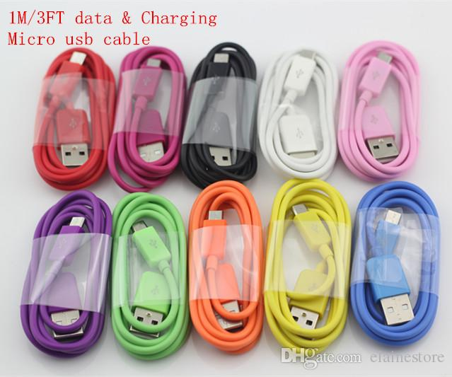 3FT Noodle Micro USB Cable Charger +US Wall Charger For Samsung Galaxy S4 S3 Note2 N7100 HTC one LG Blackberry