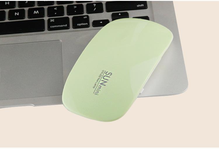 Nuovo Mini USB 6W 6 LED UV Nail Dryer Lampada di polimerizzazione Gel Nail Polish potente Lampada UV Polish Light Nails Strumenti il viso Fast Dry i