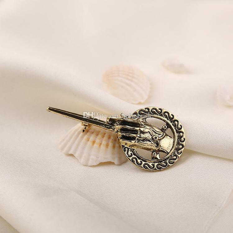 A Song of Ice and Fire Game of Thrones Hand of the King classic retro vintage brooches badge alloy pin for men male