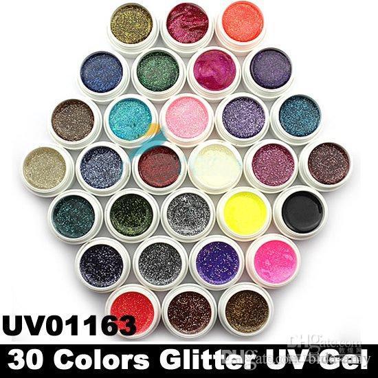 Hong Kong Post Mail Glitter Powder UV Gel for UV Nail Art Tips Extension Deco