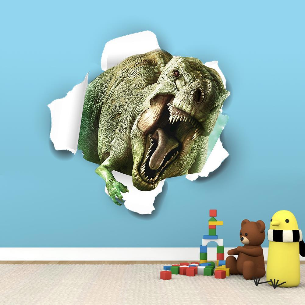 3d Dinosaur Wall Art 3d fantastic dinosaur wall stickers for kids rooms removable