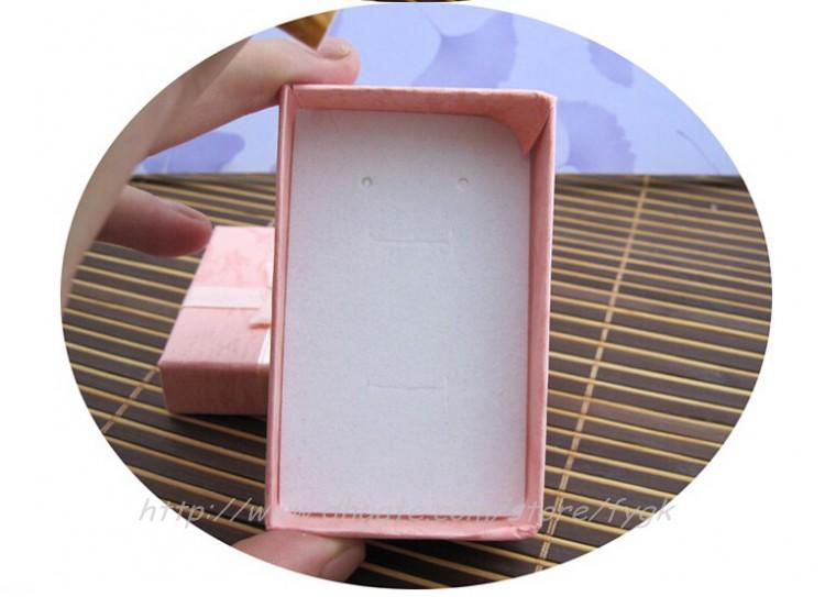 Assortimento di colori assortiti Set di gioielli Display Box Collana orecchini Anello Box 5 * 8 Confezione regalo confezione mista Spedizione gratuita