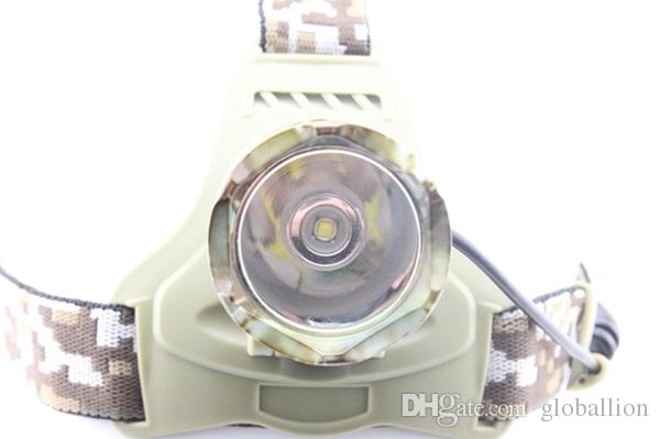 AloneFire HP07 NEW! Camouflage Headlight Cree XM-L T6 LED 2000LM led Headlamp light for 1/2 x18650 rechargeable battery