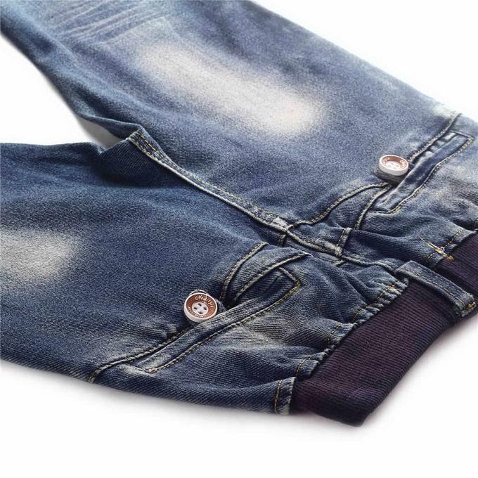Vendita calda al dettaglio di marca Ragazzi jeans denim con perline moda decorazione ragazzi pantaloni all'ingrosso abbigliamento bambini PT81016-3