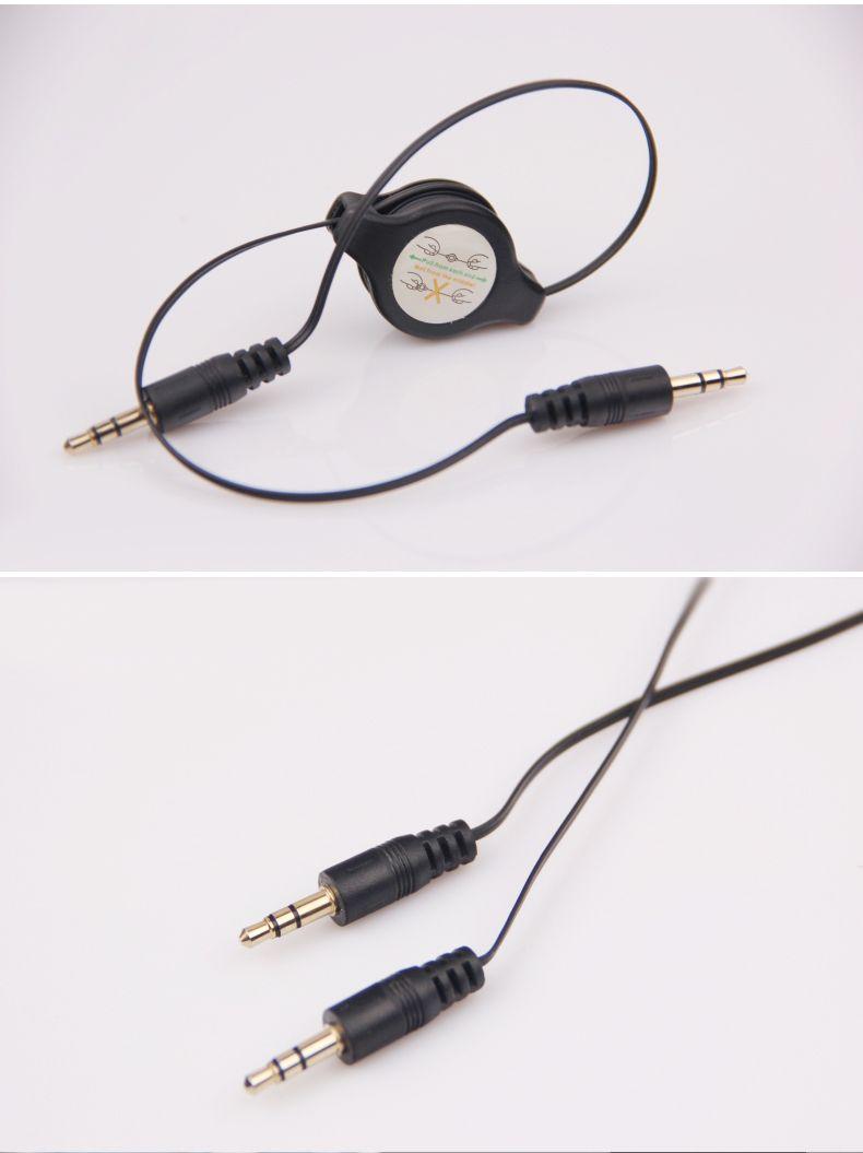 Cabo aux retrátil com cabo de áudio aux cabo de 3.5mm AUX carro cabo de áudio mp3, frete grátis