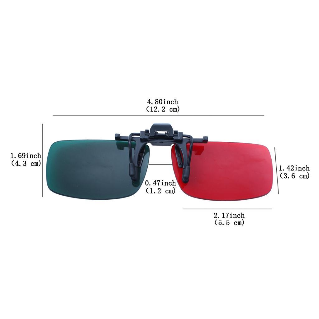 Clip en lentes 3D Anaglyph Lens para ver películas en 3D y juegos Cyan Red Express Envío gratis