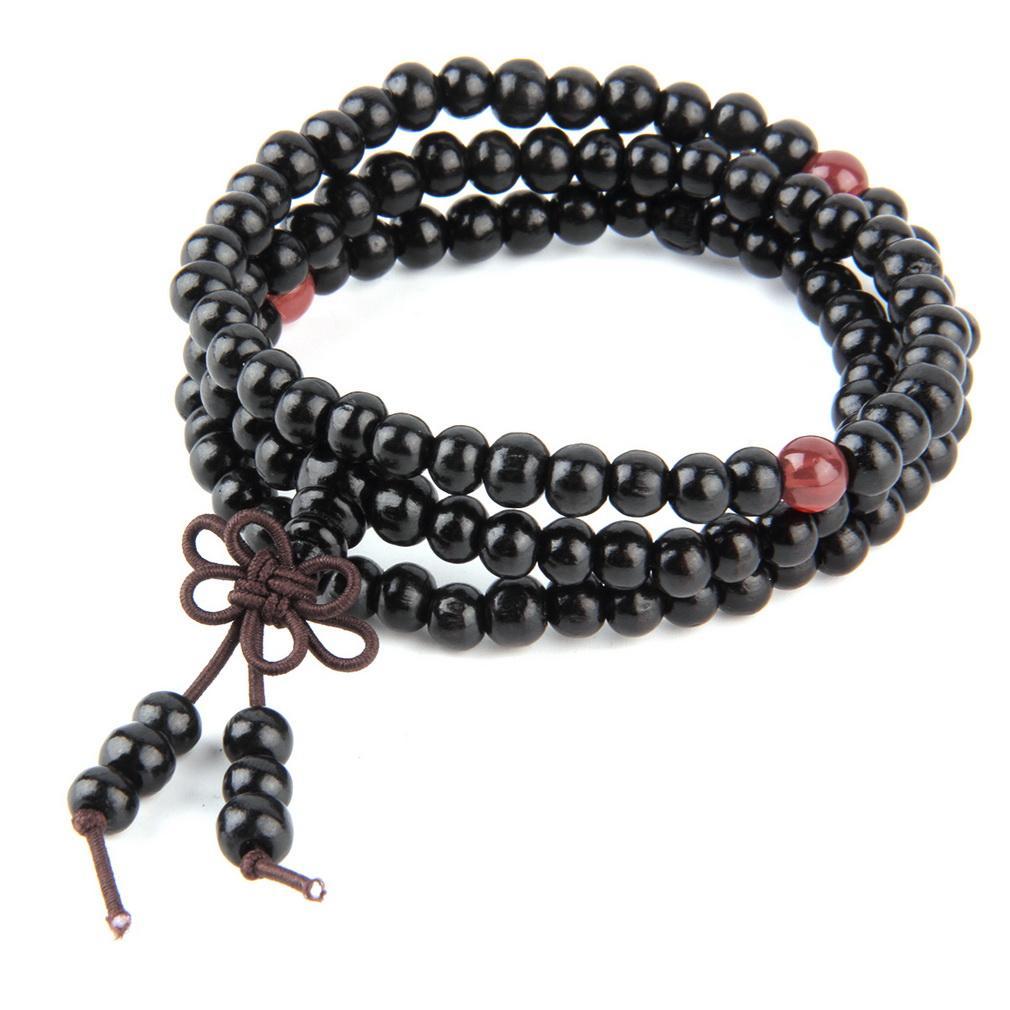 2016 vendas Hot 6mm sândalo vermelho natural oração oração japa rosário mala pulseira meditação Budista Tibetano De Madeira Rosário Pulseira de Contas