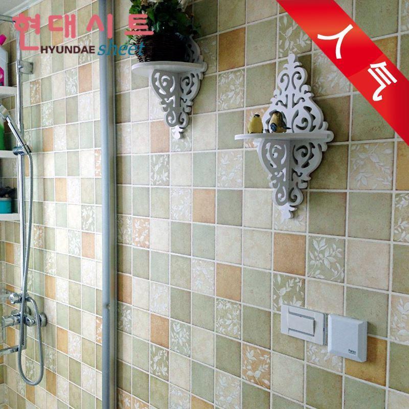 PVC Vinyl Plastic Self Adhesive Wallpaper Mosaic Tile