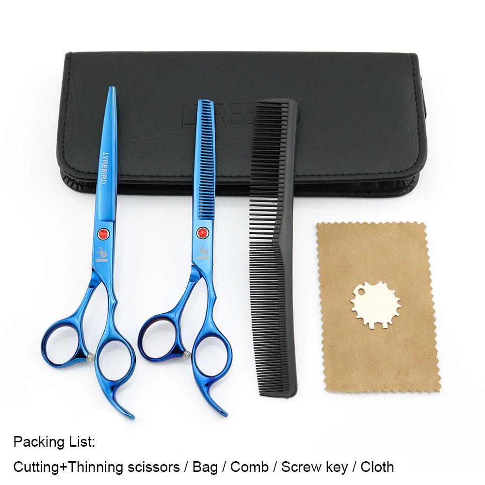 Ciseaux à cheveux 7 INCH Ciseaux à couper Ciseaux à effiler 6.5 INCH LYREBIRD Blue Dog Ciseaux à toiletter
