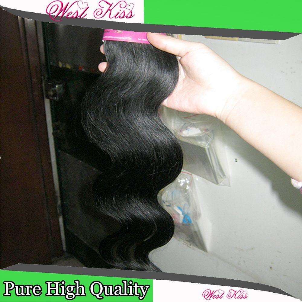 Promise Cheapest cheveux brésiliens armure traitée extension de Remy 100% cheveux humains / vague de corps réel prix usine