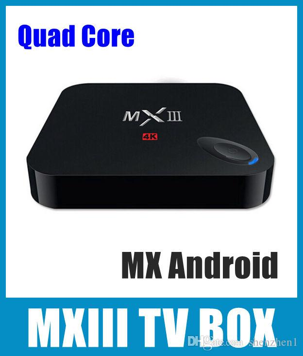 MXIII XBMC Kodi Android TV BOX Amlogic S802 Quad Core 4K IPTV Set Top Box  Android DLNA Miracast Wifi Smart TV BOX OTH036