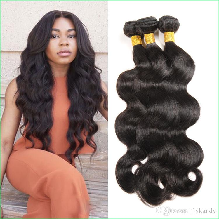 S Shaped Body Wave Human Hair Sew In Weavesmachine Stitched Virgin