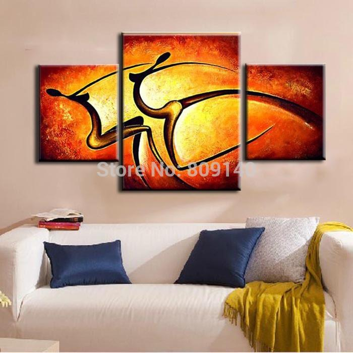 2019 Abstract Passion Dancing Lady Portrait Oil Painting Canvas Artwork Handmade Modern Home Office Hotel Wall Art Decor Decoration From Fashiondig