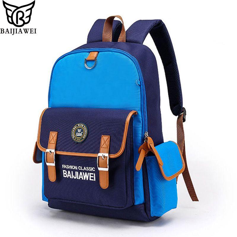 0c7958d294 Baijiawei Brand Kids New Children School Bags For Girls Boys Children  Backpack In Primary School Backpacks Mochila Infantil Zip Hobo Bags Kids  Backpacks ...