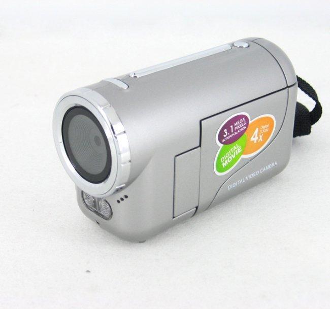"3.1Mp max Mini Digital Video Camera with 0.3Mp CMOS Sensor 4x Digital Zoom and 1.44"" TFT LCD Display,"