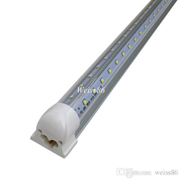 Super Bright 39W V-Shaped 6FT T8 Led Tube Lights Cooler Door Integrated Led Fluorescent Tubes Light 110-277V UL Listed