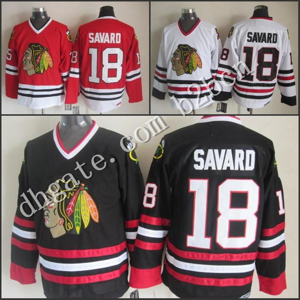 2018 2015 New Cheap Chicago Blackhawks Hockey Jersey #18 Denis Savard White  Home Stitched Men'S 1988 Vintage Throwback Jerseys Shirt From B2bcn, ...