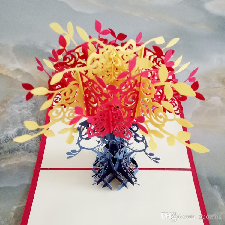 3d handmade paper cut stereoscopic greeting card folding type 3d handmade paper cut stereoscopic greeting card folding type creative joyous potted flowers chinese ethnic crafts cards gifts cards online cheap birthday m4hsunfo