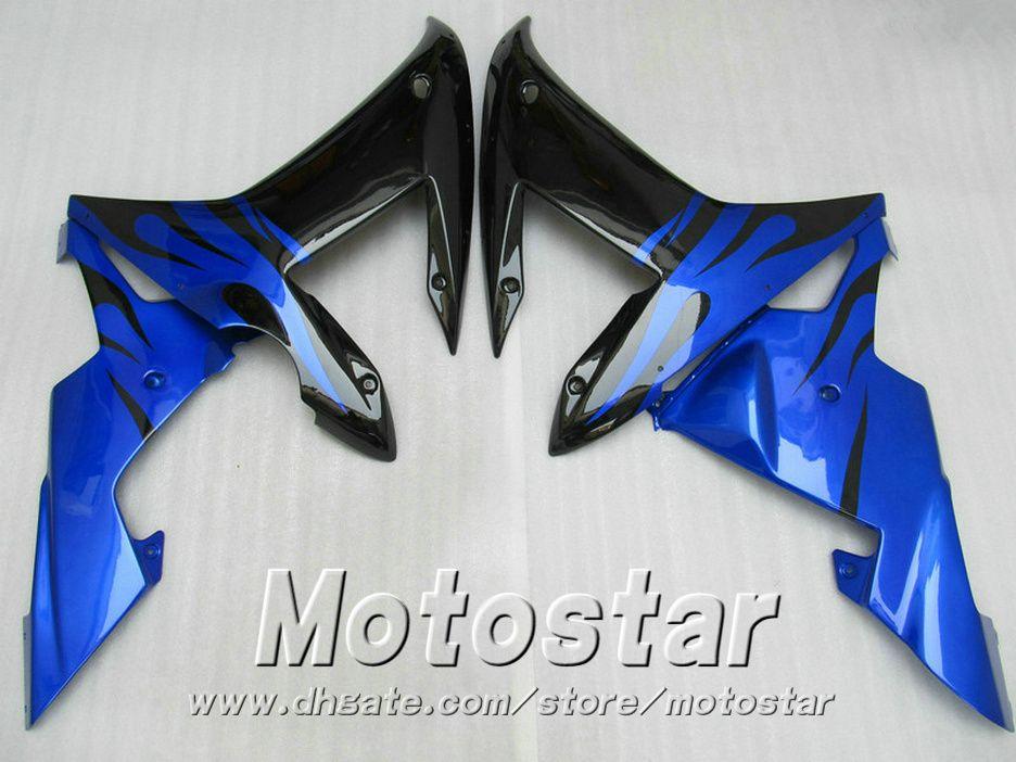 Kit de carenado completo ABS para molde de inyección para YAMAHA R1 2002 2003 carenados de azul negro set 02 03 yzf r1 LQ6