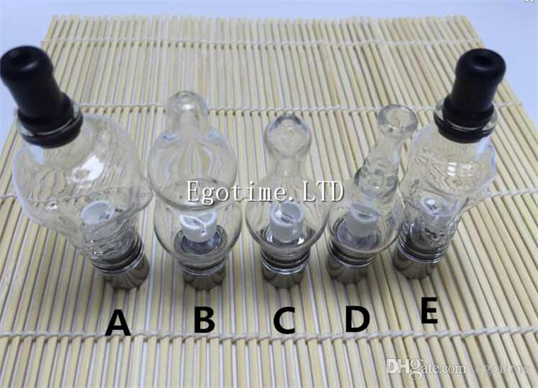 5 Style Glass Globe Atomizer Tank Wax And Herb Vaporizer coil head Replacement Ceramic Coils Gourd Bulb Tub Vapor Wax DCT Cannon Aomizer