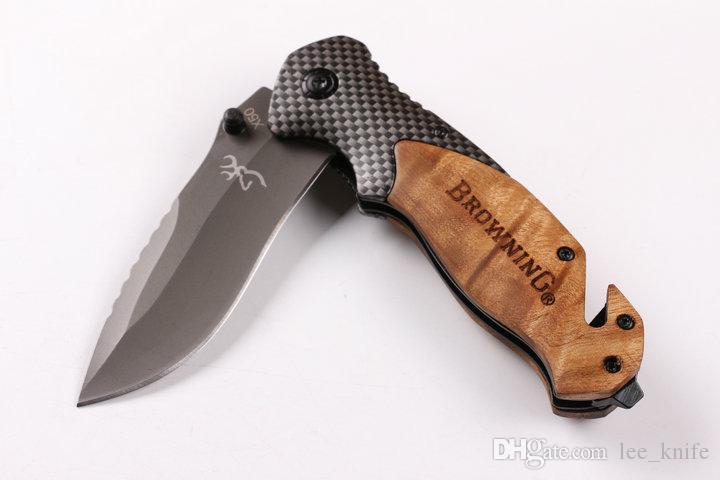 Hoge Kwaliteit Browning X50 Outdoor Survival Camping Hunting Mes Folding Mes 1 stks Gratis Verzending