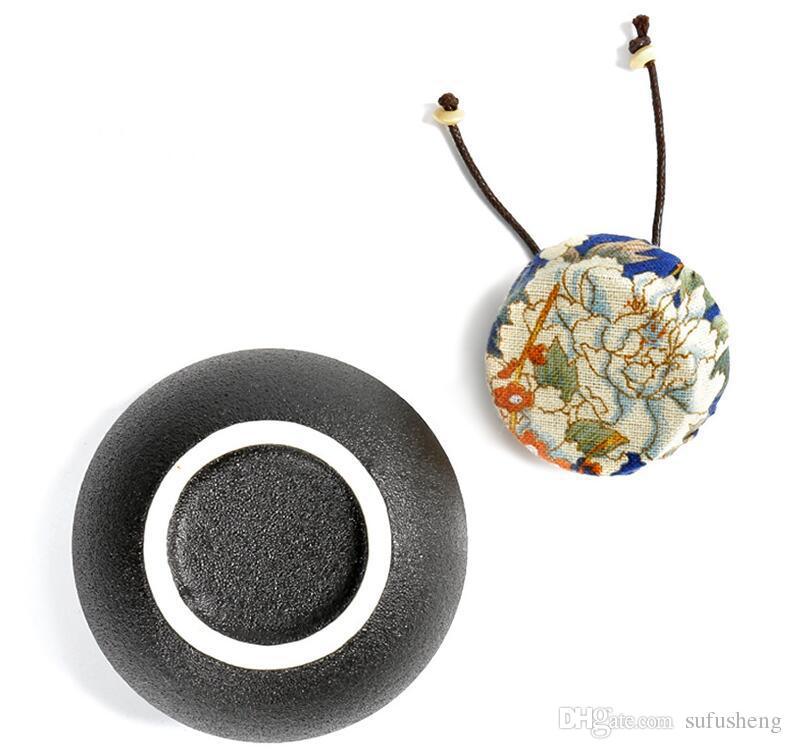 promotion mini black porcelain kiln dahongpao tea storage chests yunnan ripe puer tea tins kungfu tea set T334