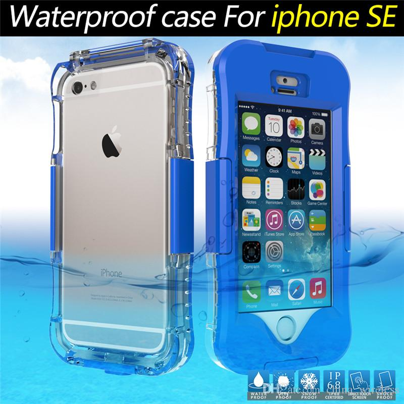 For samsung S7 S7 edge Waterproof Transparent Crystal Clear Case For iphone SE 5C for iphone6 6s Swimming Diving Cellphone Hard Full Cover