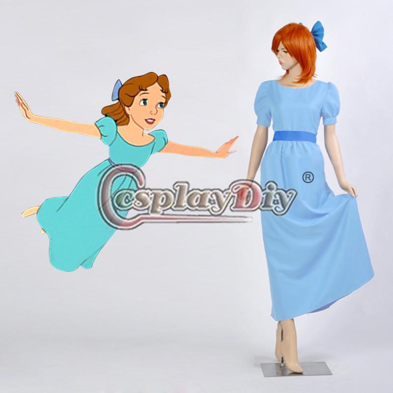 Großhandel Peter Pan Wendy Blau Abendkleid Erwachsene Frauen