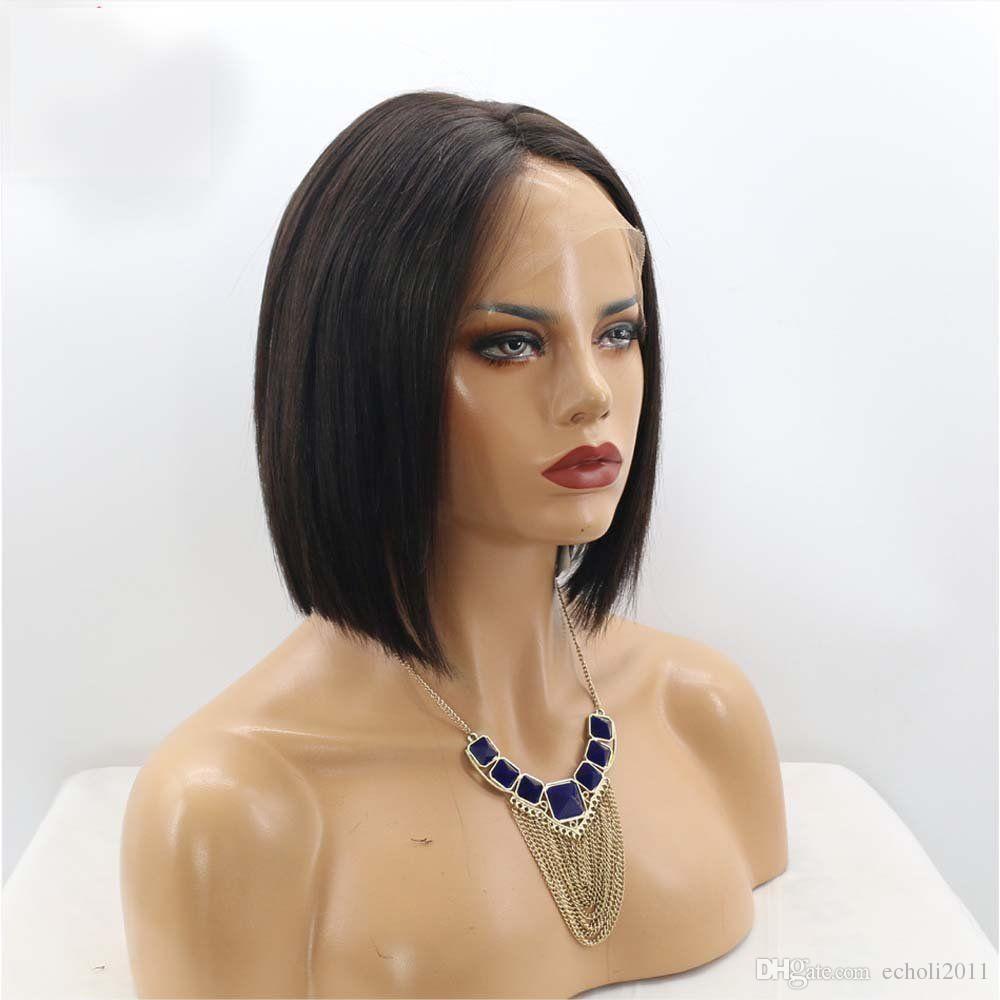 Diva Real émoussée coupe les cheveux humains 13x6 lace frontale perruque courte coupe les cheveux brésiliens lace front perruques pour les femmes noires