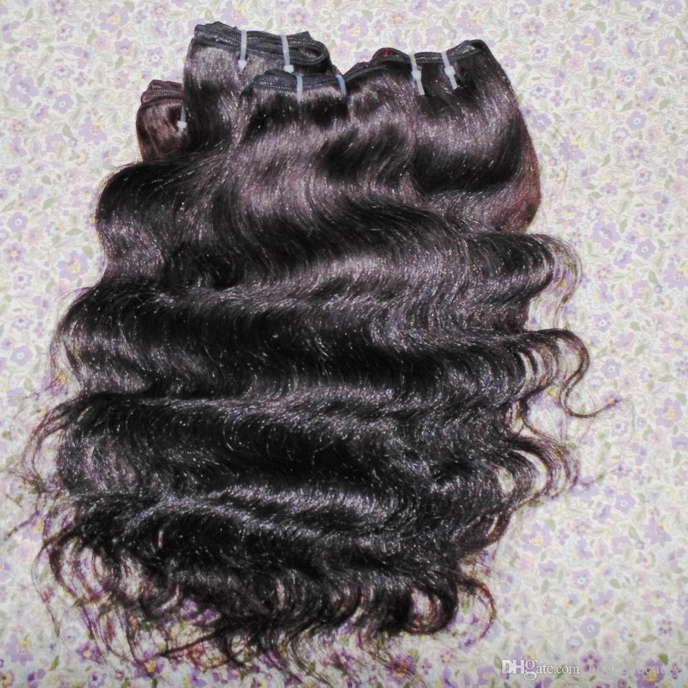 Bra affär butik hår förlängning billigt peruansk vågigt bearbetat mänskligt hår 20st / mycket snabb frakt vacker tjej