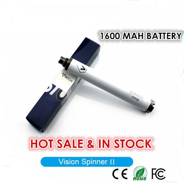 Vision Spinner II eGo Twist 배터리 가변 전압 배터리 1600 mAh 3.3V-4.8V Vision Spinner 2 for eGo Atomizer bestvaporseller