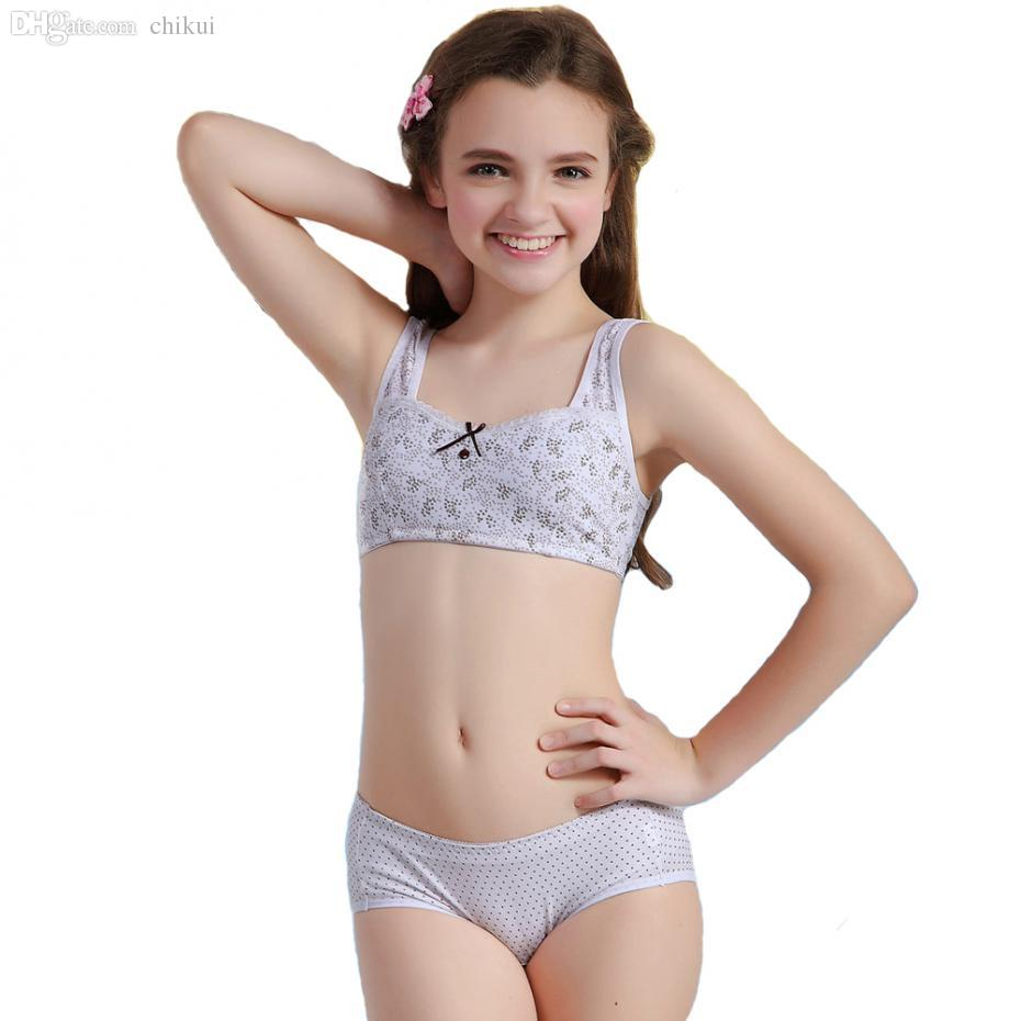 0f9c5caaa3f3f Wholesale-WoFee 2015 Puberty Girl Bra And Pants Sets Yong Girls ...