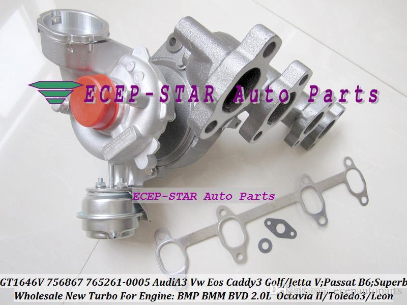 GT1646V 756867 765261 756867-0003 765261-0003 Turbo Turbocharger For AUDI A3 VW Golf Jetta Passat B6 Superb 2 Toledo 3 Leon BMP BMM BVD 2.0L