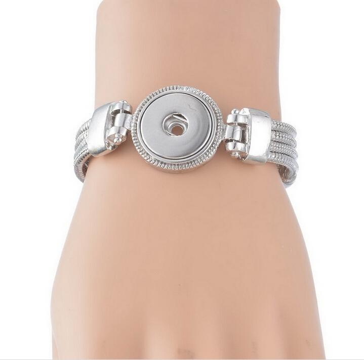 austauschbare 18mm Snap Schmuck Armbänder Armreifen heißer Verkauf Silber Kupfer Ingwer Snap Armbänder für 18-20mm Ingwer Snaps