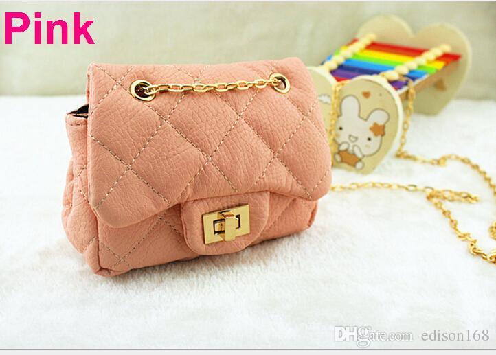 Neue Art und Weise Kinder Qualität PU-Gitter Messenger Bag Umhängetasche Handtasche 9 Farbe /