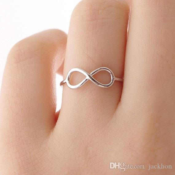 -R030 Мода Бесконечные Кольца Дружба Бесконечность Кольцо Симпатичные Простые Геометрические 8 Восемь Кольца для Любителей Друзей