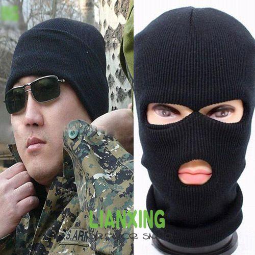 3 Hole Knitted Face Mask Balaclava Hat Ski Army Stocking Winter Cap Beanie  Hood Newborn Hats Knit Beanie From Jinzhiya fb5a284739e6