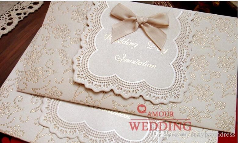 2015 헌정 수제 결혼식 공식 초대장 카드 무료 배송 크리 에이 티브 바게트 디너 초대 카드 신규 도착