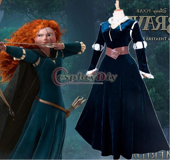 Custom Made Princess Merida Dress From Movie Brave Cosplay Costume Fancy Dress For Halloween And Christmas Party High Quality Halloween Costume Accessories ...  sc 1 st  DHgate.com & Custom Made Princess Merida Dress From Movie Brave Cosplay Costume ...