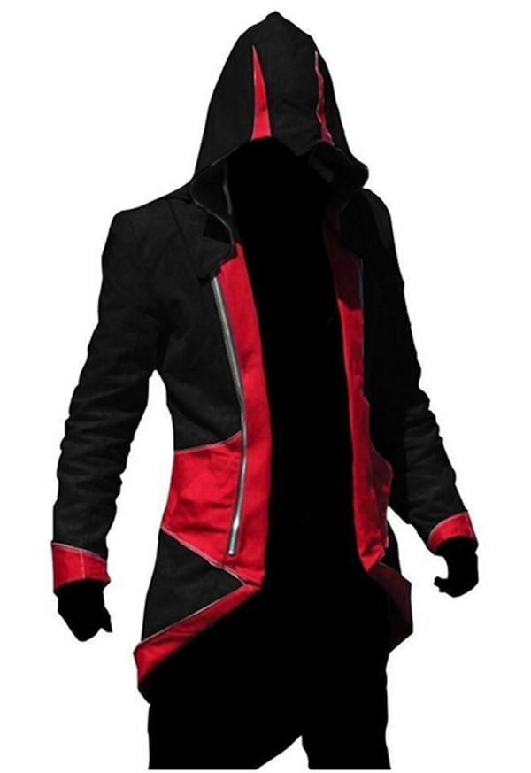 Assassins Creed 3 III Conner Kenway Hoodie Coat Jacket Cosplay Costume Free Shipping