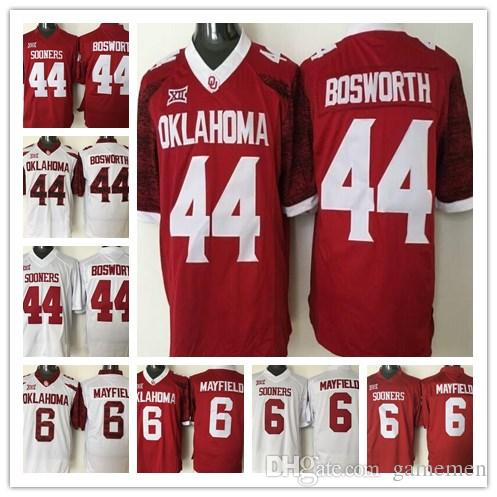 2017 Men s Oklahoma Sooners  6 Baker Mayfield 44 Brian Bosworth ... 798f2d2b1