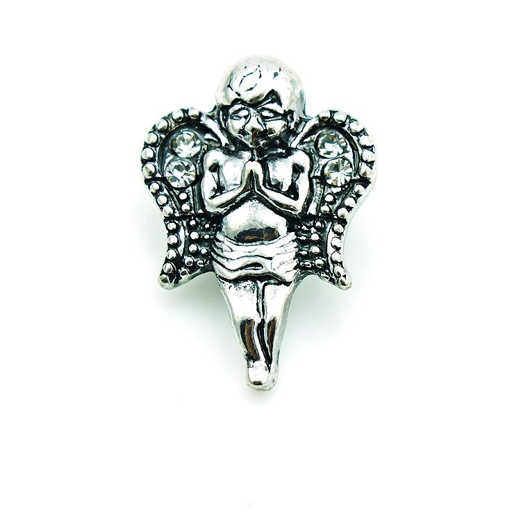 Fashion 18mm Snap Buttons High Quantity Angel Metal Ginger Clasps DIY Noosa Jewelry Accessories