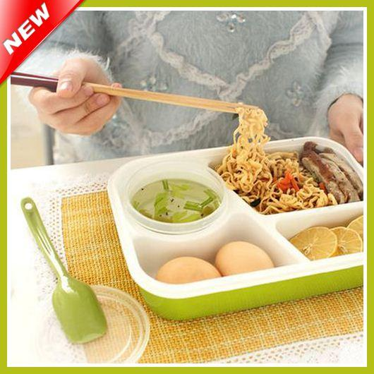 2018 4 Compartments Bento Lunch Box Set For Kids Multifunctional Lunchbox Lady Microwaveable Adults Food Container From Zhuwu1