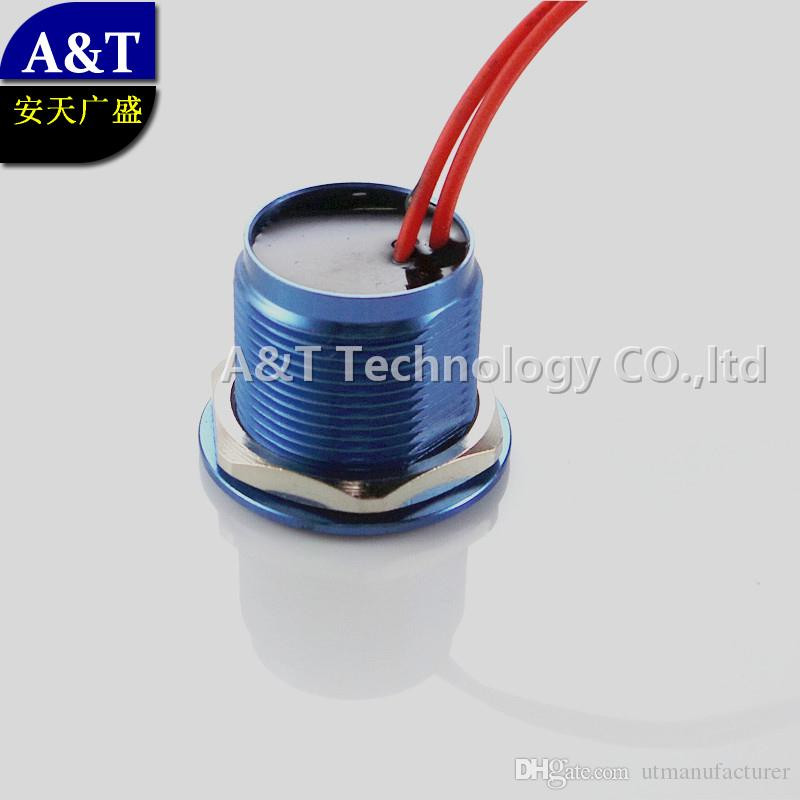 22MM Thread dia,Piezo Switch Waterproof IP68,momentary on off Normally open,Piezoelectric anti vandal Metal Push button Switch