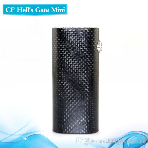 Original Yep CF Hells Gate Mini Kits Carbon Fiber Hells Gate boîte de mini-mod cig E-18650 avec double batterie double atomiseurs Yep RDA