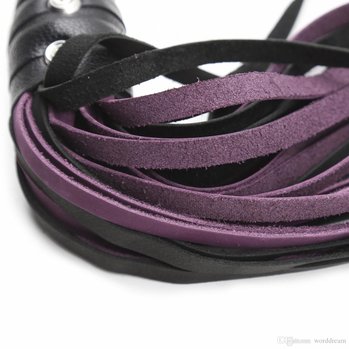 BDSM Genuine Leather Whip Flogger Ass Spanking Bondage Slave In Adult Games For Couples Fetish Sex Toys For Women And Men