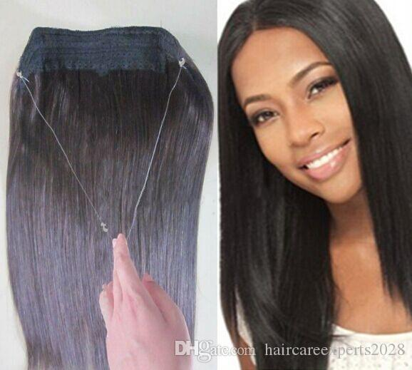 2015 new hair products straight high quality hair flip in halo see larger image pmusecretfo Image collections