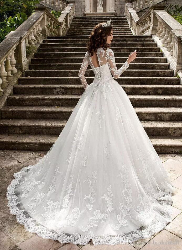 Bohomian 2020 a line кружевные свадебные платья с прозрачными длинными рукавами кантри свадебное платье зашнуровать назад пользовательские свадебные платья Vestios De Novia