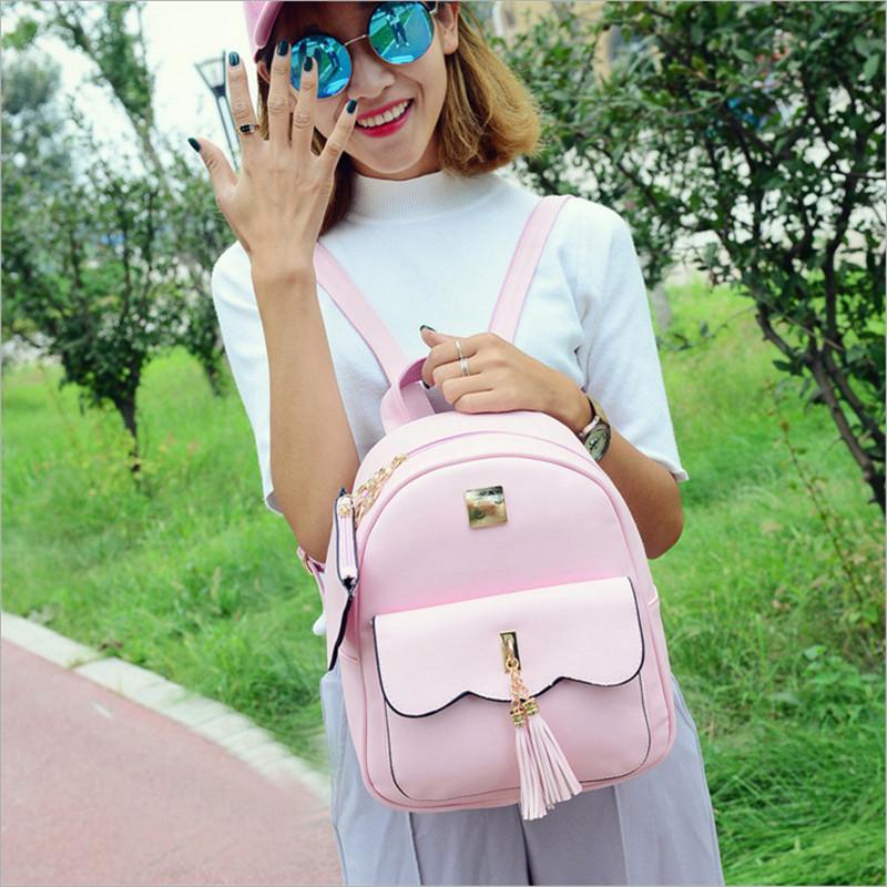 YBYT brand 2017 new preppy style tassel women rucksack ladies high quality stylish backpacks joker student school backpacks